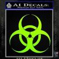 Bio Hazard Decal Sticker DO Neon Green Vinyl Black 120x120