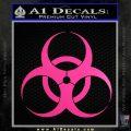 Bio Hazard Decal Sticker DO Neon Pink Vinyl Black 120x120
