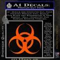 Bio Hazard Decal Sticker DO Orange Emblem Black 120x120