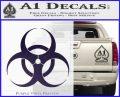 Bio Hazard Decal Sticker DO Purple Vinyl Black 120x97