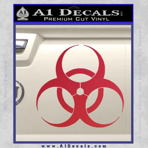 Bio Hazard Decal Sticker DO Red Vinyl Black
