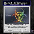 Bio Hazard Decal Sticker DO Spectrum Vinyl Black 120x120