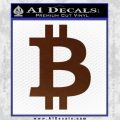 Bitcoin D1 Decal Sticker BROWN Vinyl 120x120