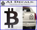 Bitcoin D1 Decal Sticker Carbon FIber Black Vinyl 120x97