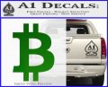 Bitcoin D1 Decal Sticker Green Vinyl Logo 120x97
