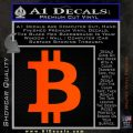 Bitcoin D1 Decal Sticker Orange Emblem 120x120