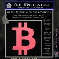 Bitcoin D1 Decal Sticker Pink Emblem 120x120