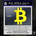 Bitcoin D1 Decal Sticker Yellow Laptop 120x120