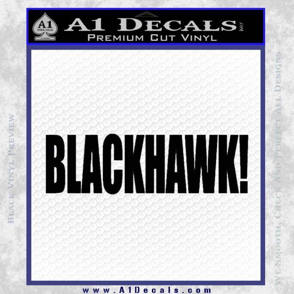 Blackhawk Firearms Decal Sticker Black Vinyl