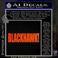 Blackhawk Firearms Decal Sticker Orange Emblem 120x120