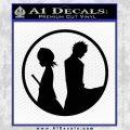 Bleach Ichigo Rukia Decal Sticker Black Vinyl 120x120