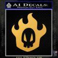 Bleach Rukia Skull Icon Decal Sticker Gold Vinyl 120x120
