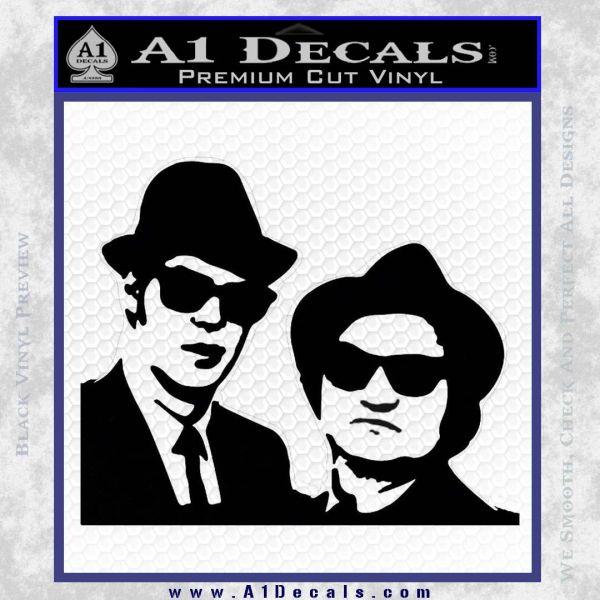 Blues Brothers Decal Sticker Black Vinyl