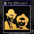 Blues Brothers Decal Sticker Gold Vinyl 120x120