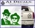 Blues Brothers Decal Sticker Green Vinyl Logo 120x97