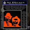 Blues Brothers Decal Sticker Orange Emblem 120x120