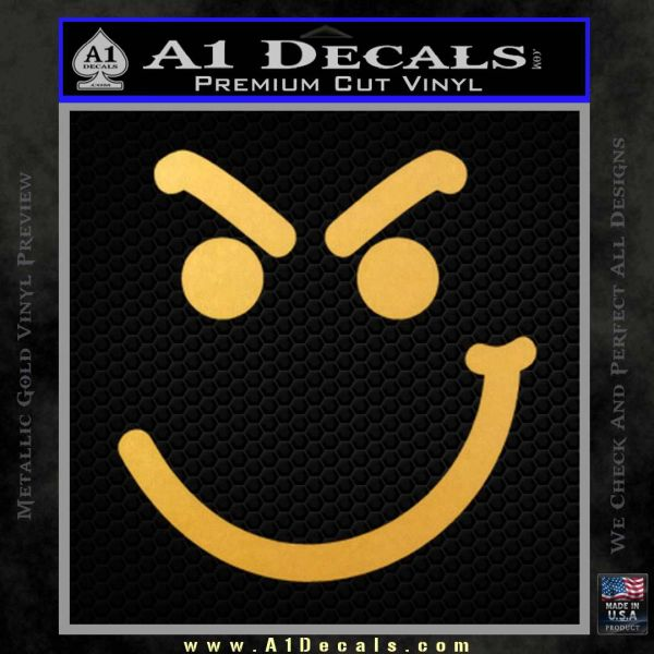 Bon Jovi Decal Sticker Have A Nice Day Smirk Gold Vinyl