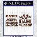 BorderlandsAll Gun Companies Decal Sticker BROWN Vinyl 120x120