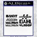 BorderlandsAll Gun Companies Decal Sticker Black Vinyl 120x120
