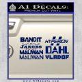 BorderlandsAll Gun Companies Decal Sticker Blue Vinyl 120x120