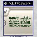 BorderlandsAll Gun Companies Decal Sticker Dark Green Vinyl 120x120