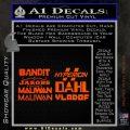 BorderlandsAll Gun Companies Decal Sticker Orange Emblem 120x120
