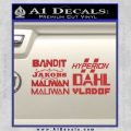 BorderlandsAll Gun Companies Decal Sticker Red 120x120