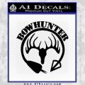 Bow Hunter Circle Arrow Decal Sticker Black Vinyl 120x120