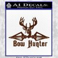 Bow Hunter Decal Sticker Intricate BROWN Vinyl 120x120