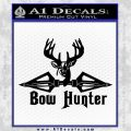 Bow Hunter Decal Sticker Intricate Black Vinyl 120x120