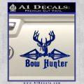 Bow Hunter Decal Sticker Intricate Blue Vinyl 120x120