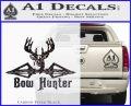 Bow Hunter Decal Sticker Intricate Carbon FIber Black Vinyl 120x97