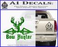 Bow Hunter Decal Sticker Intricate Green Vinyl Logo 120x97