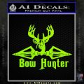 Bow Hunter Decal Sticker Intricate Lime Green Vinyl 120x120