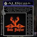 Bow Hunter Decal Sticker Intricate Orange Emblem 120x120