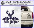 Bow Hunter Decal Sticker Intricate PurpleEmblem Logo 120x97