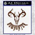 Bow Hunter Decal Sticker Skull BROWN Vinyl 120x120