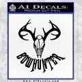 Bow Hunter Decal Sticker Skull Black Vinyl 120x120