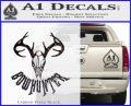 Bow Hunter Decal Sticker Skull Carbon FIber Black Vinyl 120x97
