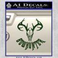 Bow Hunter Decal Sticker Skull Dark Green Vinyl 120x120