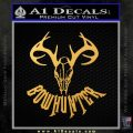 Bow Hunter Decal Sticker Skull Gold Vinyl 120x120