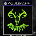 Bow Hunter Decal Sticker Skull Lime Green Vinyl 120x120