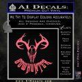 Bow Hunter Decal Sticker Skull Pink Emblem 120x120