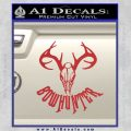 Bow Hunter Decal Sticker Skull Red 120x120