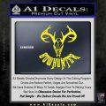 Bow Hunter Decal Sticker Skull Yellow Laptop 120x120