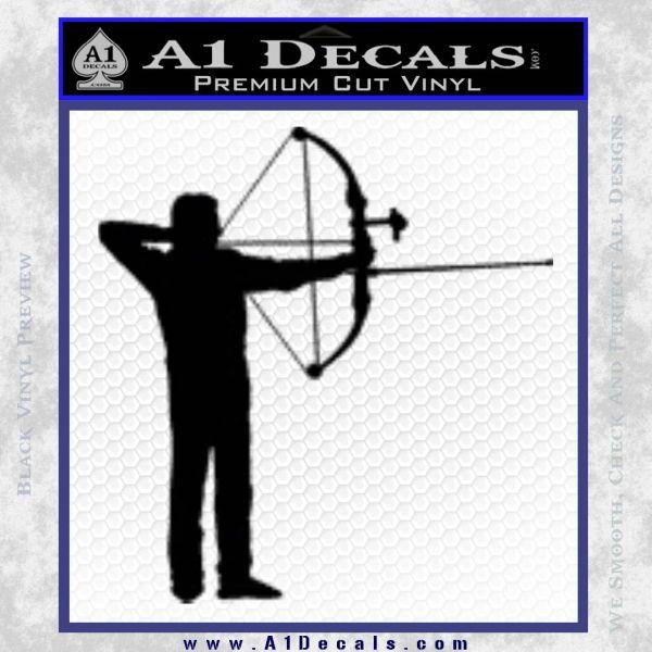 Bow Hunting Decal Sticker Archery Black Vinyl