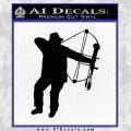 Bow Hunting Decal Sticker D2 Black Vinyl 120x120