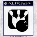 Bowling Decal Sticker SQ Pin Balls Black Vinyl 120x120