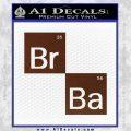 Breaking Bad Decal Sticker Element Squares BROWN Vinyl 120x120