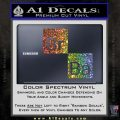 Breaking Bad Element Squares Decal Sticker Glitter Sparkle 120x120